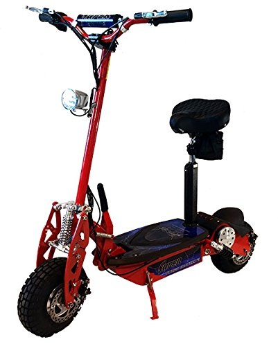 Super-Turbo-1000-Watt-Elite-36V-Electric-Scooter-Red