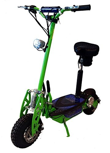 Super-Turbo-1000watt-Elite 36v-electric-scooters-for-adults-Neon-Green