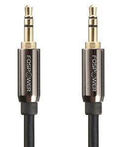Audio-Cable-15 FT-FosPower-Stereo-Audio-3.5mm-Short-Cord -Male-to-Male-AUX-Cable