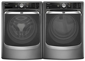 Maytag-Maxima-XL-Front-Load-Steam-Washer-and-Steam-Dryer-SET-Graphite