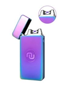 Novelty-Wares-Dual-Arc-Rechargeable-Windproof-Cigarette-Lighter-with-Charging-Cable-and-Gift-Box