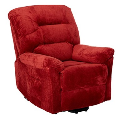 Coaster-Home-Furnishings-Modern-Transitional-Power-Lift-Wall-Hugger-Recliner-Chair-with-Emergency-Backup-Brick-Red-Textured-Chenille