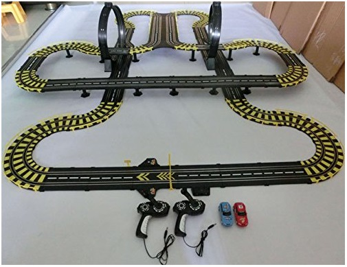 Electric-rail-car-track-set-double-RC-dual-Track-racing-car-high-speed-kids-toys-gift-Kids-Children