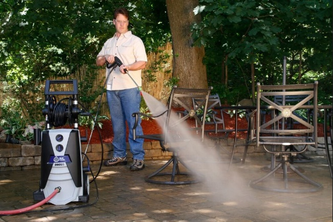 Generac-Gas-Pressure-Washer-3100-Lithium-Ion-Electric-Start-with-PowerDial-Spray-Gun-Hose-4 Nozzles