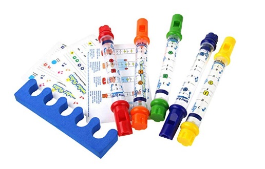 Evaliana-5pcs-Water-Flutes-Whistles-Music-Sheets-Musical-Bath-Time-Toy-Tub-Tunes-Songs