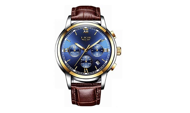 Mens-Luxury-Business-Quartz-Watch-LIGE-Fashion-Analog-Chronograph-Wrist-Watch-with-Brown-Leather-Band