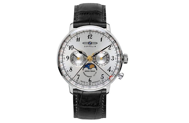 Zeppelin-Series-LZ129-Hindenburg-Mens-Multifunction-Day-Date-Moon-Phase-Watch-Silver-with-Black-Strap-7036-1