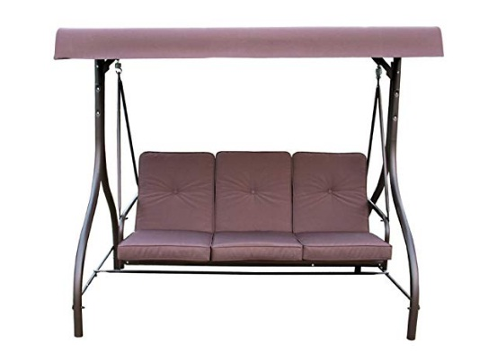 3-seater-Mainstays-Lawson-Ridge-Converting-Outdoor-Swing