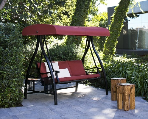 Abba-Patio-3-Person-Outdoor-Metal-Gazebo-Padded-Porch-Swing-Hammock-with-Adjustable-Tilt-Canopy-Red