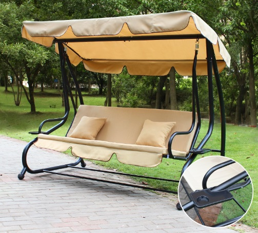 Adeco-Canopy-Awning-Porch-Swings-Bench-Chair-Outdoor