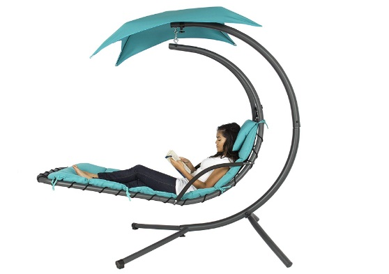 Best-Choice-Products-Outdoor-Porch-Hanging-Curved-Chaise-Lounge-Chair-Swing-Hammock-with-Pillow-Stand-Canopy-teal