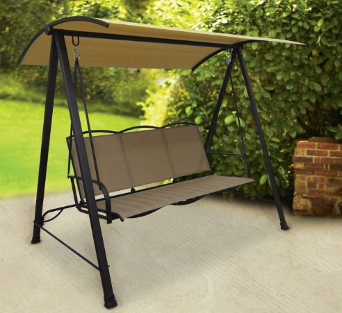 Classic-Patio-Porch-Sling-Swing-with-Shade-Canopy-Tan-Seats-3