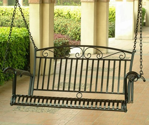 International-Caravan-Tropico-Iron-Patio-Porch-Swing-in-Black