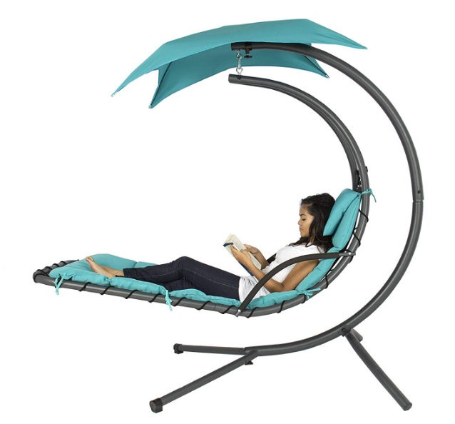 Outdoor-Porch-Hanging-Curved-Chaise-Lounge-Chair-Swing-Hammock-with-Pillow