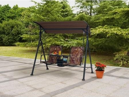 Outdoor-Swing-Lounge-Big-and-Tall-2-seat-Bungee-Swing-Fade-resistant-Print-Camo-Fabric-Pivoting-Table-and-Storage-Console