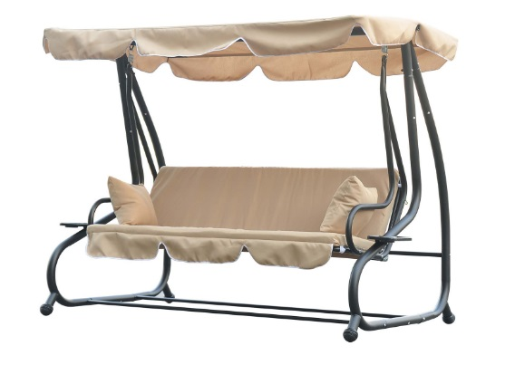 Outsunny-3-Seat-Outdoor-Free-Standing-Covered-Swing-Bench-Beige