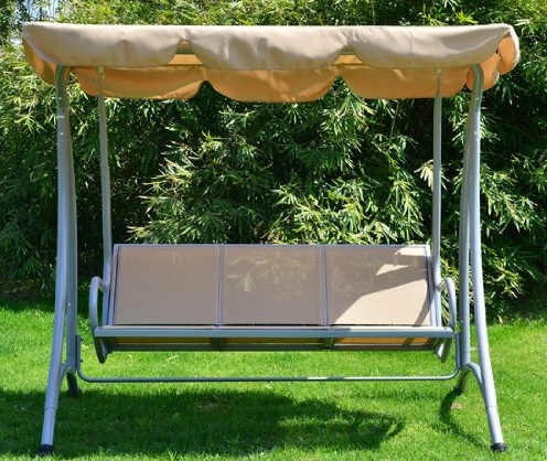 Outsunny-Covered-Outdoor-Patio-Swing-Bench-with-Frame-Sand