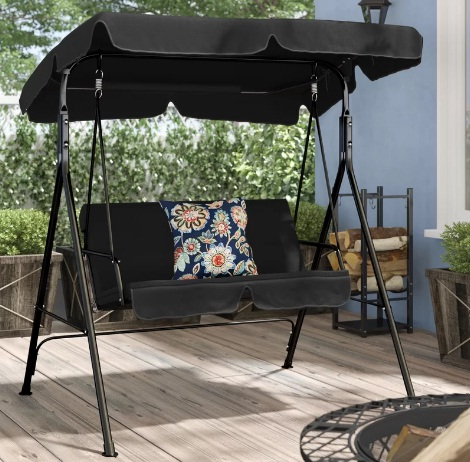 Priory-Patio-Loveseat-Canopy-Hammock-Porch-Swing-with-Stand