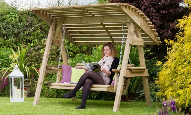 best-wooden-bench-swing-with-canopy