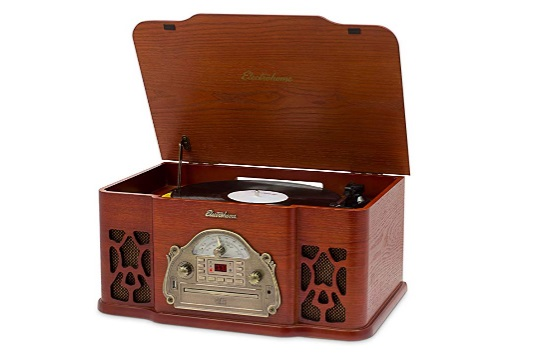 electrohome-wellington-record-player-retro-vinyl-turntable-real-wood-stereo-system