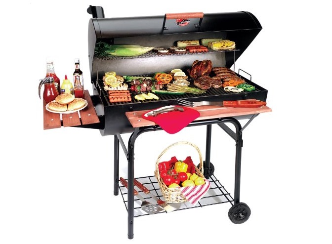 Char-Griller-2137-Outlaw-1063-Square-Inch-Charcoal-Grill-Smoker