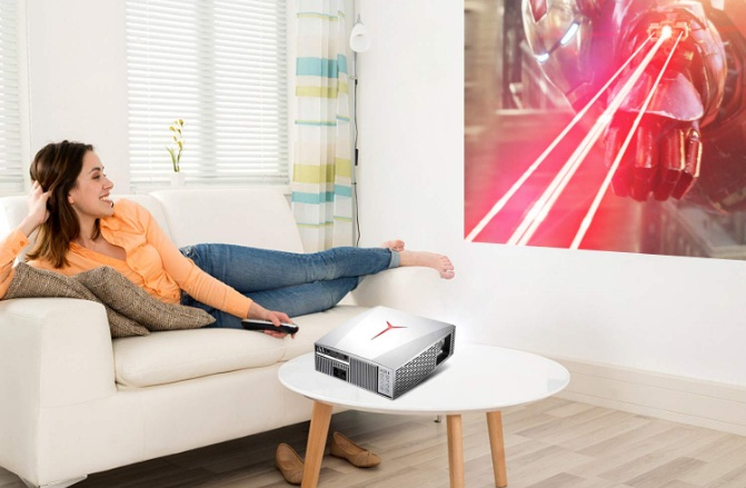 1080p projector with speakers