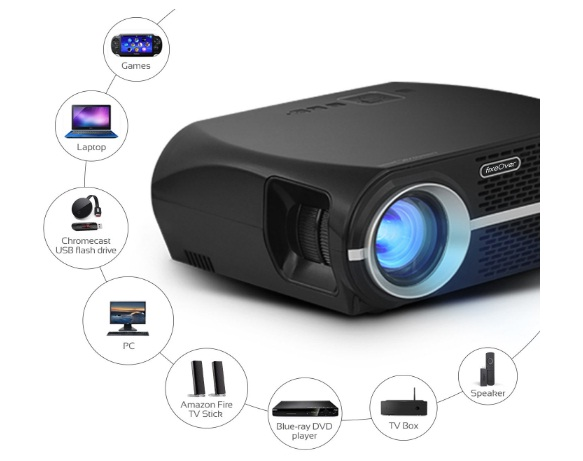 fixeover gp100 video projector lcd 1080p