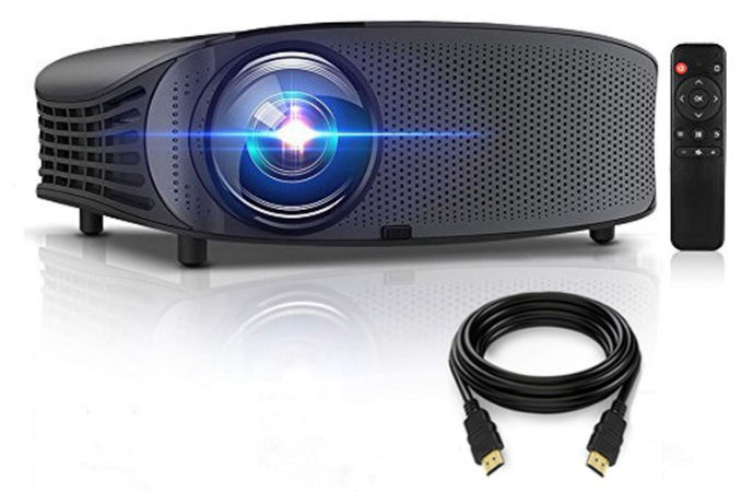 gbtiger 4000 lumens portable home projector