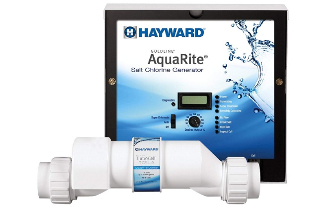 Hayward Goldline AQR9 AquaRite Electronic Salt Chlorination System for In-Ground Pools