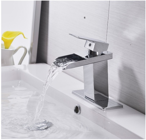 bwe chrome waterfall bathroom faucet review