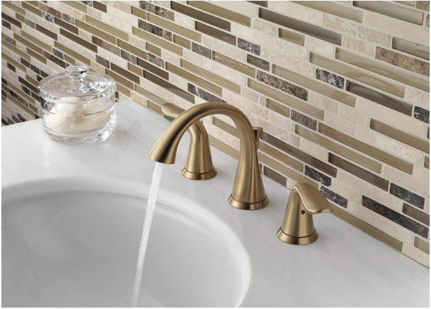 delta lahara 2-handle widespread bathroom faucet