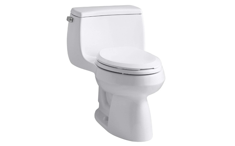 KOHLER K-3615-0 Gabrielle Comfort Height One-Piece Elongated 1.28 GPF Toilet with AquaPiston Flush Technology