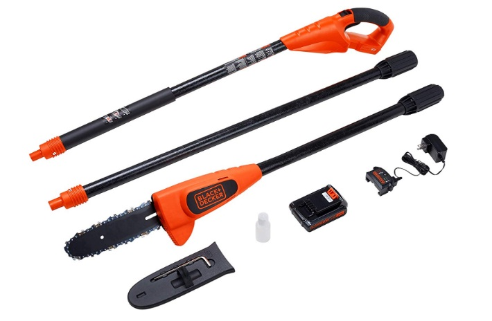 black and decker 20v cordless lithium pole saw