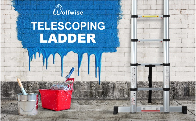 wolfwise 12.5ft telescoping ladder