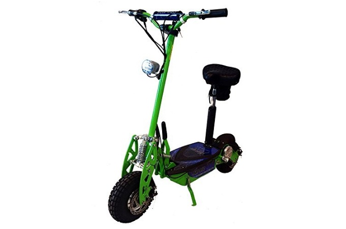 Best Electric Scooter, Super Turbo 1000watt Elite 36v electric scooters for adults Neon Green