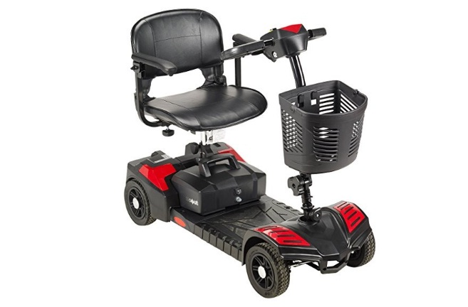 Drive Medical Scout Compact Travel Power Scooter, 3-Wheel Scooter for Adults
